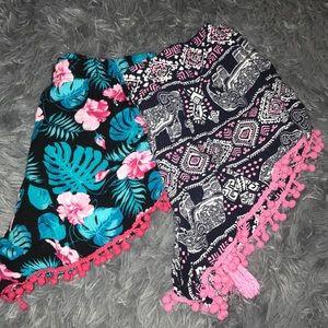 Pants - 5/$15 soft patterned shorts ♡